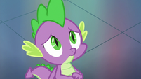 Spike looking sad and disappointed S8E24