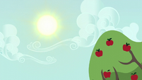 Sun shining over Sweet Apple Acres S6E10