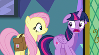 "Twilight Sparkle ""we're leaving now?"" S7E20"