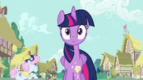 Twilight Sparkle gets hit with sweets S7E14