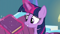 Twilight levitates book -What's funny about that-- S5E12