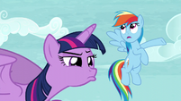 Twilight observing Tank while Rainbow says -Totally- S5E5