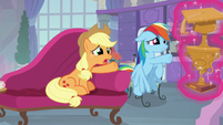 Applejack and Rainbow Dash want the trophy S8E9