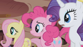 Fluttershy, Pinkie, and Rarity side by side S1E02.png