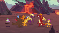 Garble's friends greeting Smolder S9E9