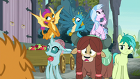 Ocellus' friends looking embarrassed S8E2