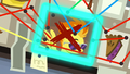 Photo of Spitfire in blue outline S7E23.png
