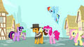 Pinkie Pie and friends with Cheese Sandwich S4E12.png