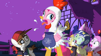 Pinkie Pie chicken costume cluck Facebook preview S2E04