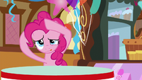 Pinkie piecing her mane back together S5E19