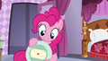 Pinkie shows the letter under the plate S5E14.png