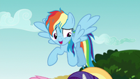 Rainbow --I'll come and get those storm clouds-- S6E21
