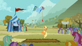 Rainbow Dash flying during the tug of war S1E13.png