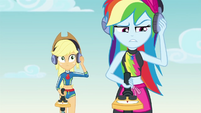 Rainbow Dash using a metal detector EGDS15