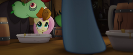 Rainbow stomps her hoof on the table MLPTM