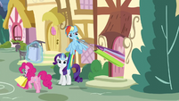 Rarity, Rainbow, and Pinkie shopping S5E3