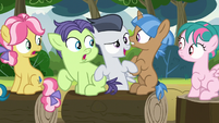 Rumble pops up between green and brown colts S7E21