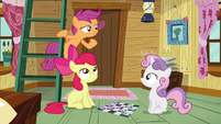 Scootaloo re-saying what Rainbow Dash said to her S3E06