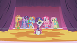 The ponies wearing their Gala dresses S1E14
