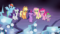 Twilight stands before the Tree of Harmony S9E1