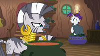 "Zecora ""if I'm to work any faster"" S7E19"
