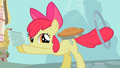 Apple Bloom with plates, pie and hoop S2E06.png