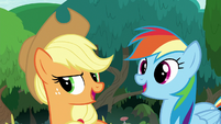 Applejack and Rainbow Dash -right!- S8E9