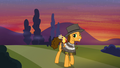 Cheese Sandwich leaving Ponyville S4E12.png