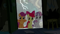 Cutie Mark Crusaders enter the cabin S5E6.png
