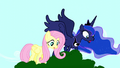 Fluttershy and Luna spot the Tantabus S5E13.png