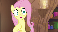 Fluttershy gasps in considerable horror S7E20