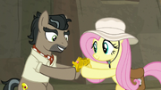 Fluttershy gives Talisman to Caballeron S9E21