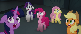 Main five gasping in shock MLPTM