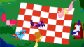 Mane 6 picnic blanket overhead view S2E03.png