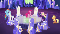 Mane Six ready for a covert friendship mission S7E11
