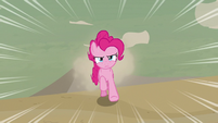 Pinkie Pie racing through the desert S7E18