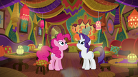 Pinkie and Rarity in the restored Tasty Treat S6E12