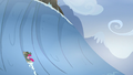 Pinkie and yak almost reaching Yakyakistan S5E11.png