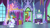Pinkie bursts into Twilight's bedroom MLPS2