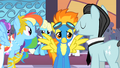 Rainbow Dash trying to talk to Spitfire S1E26.png
