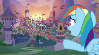 Rainbow calling out to the Wonderbolts S9E26