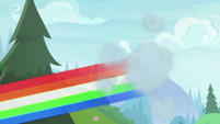 Rainbow zooms down to cheer squad S9E15