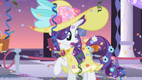Rarity on dress S2E9