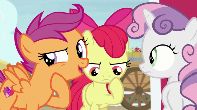 "File:Scootaloo ""did you see the way he was acting?"" S7E8.png"
