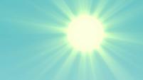 Sun shining bright in the sky EGFF