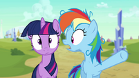 Twilight and Rainbow Dash -the wrong pony-!- S3E12