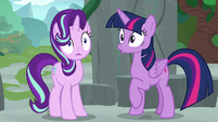 Twilight and Starlight hear Spike's voice S7E25