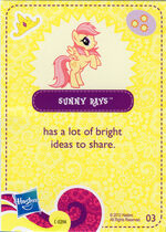 Wave 5 Sunny Rays collector card