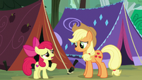 "Apple Bloom ""Rarity had that ginormous tent"" S7E16"