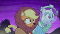 Applejack and Rainbow in disbelief S5E21.png